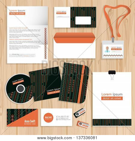 Corporate identity template design. Abstract Corporate brand Business identity design Template Layout. Vector company style brand design layout.