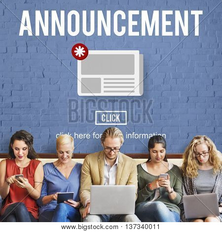 Announcement Hot News Newsletter Daily Concept