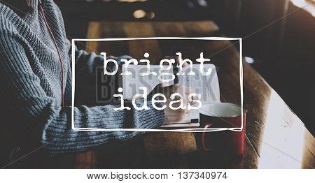 Bright Idea Creative Positive Thinking Concept