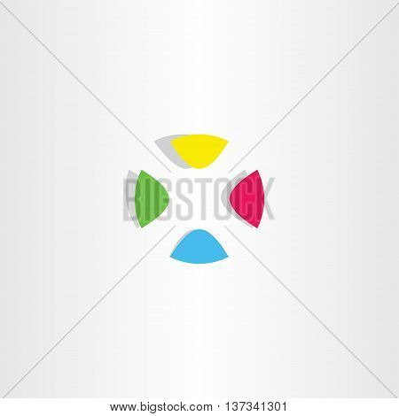 Letter X Logo X Colorful Circle Vector Icon