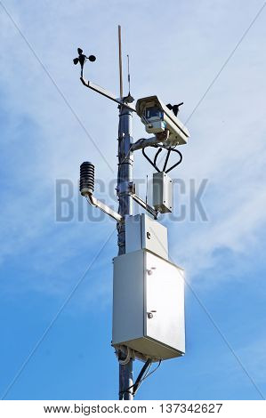 Video camera for monitoring traffic conditions and weather