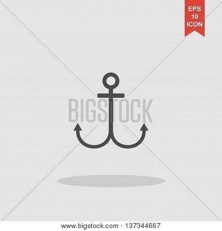 Anchor Symbol. Modern Design Flat Style Icon