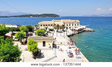 parks and promenades in Corfu, Greece, Europe