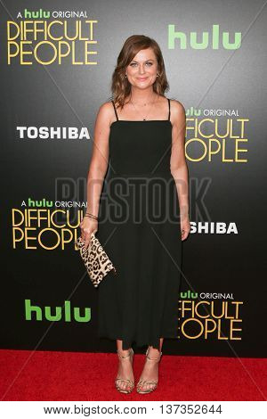 NEW YORK-JUL 30: Actress Amy Poehler attends the Hulu Original Premiere of 'Difficult People' at the SVA Theater on July 30, 2015 in New York City.