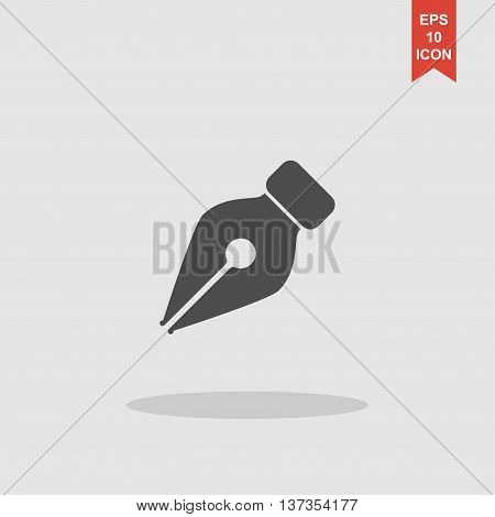 Ink Pen Icon Isolated