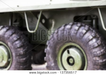 photographed close-up of old military equipment the Soviet Union, defocus