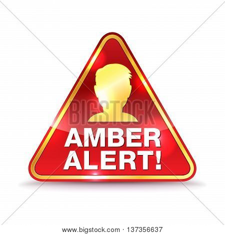 An icon for an Amber Alert warning message. Vector EPS 10 available.