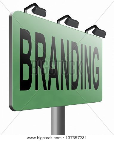 branding your own brand new product name promotion of trademark by recognition 3D illustration, isolated, on white