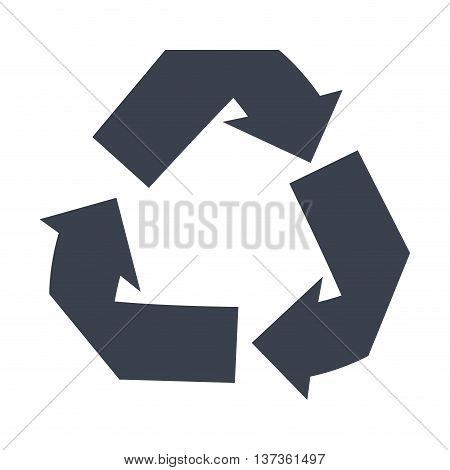 Reduse, reuse, recycle isolated icon, vector illustration graphic.