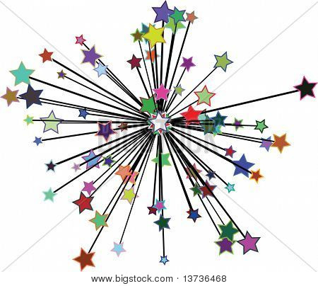 abstract vector star sunburst- eps file available