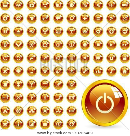 Vector conjunto de iconos hermosos para web