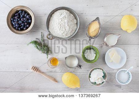 Lemon Blueberry Pancakes Ingredients