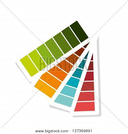 Pantone with differents colors isolated icon, vector illustration graphic desgn.