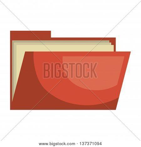 Red business folder symbol, vector illustration graphic design.