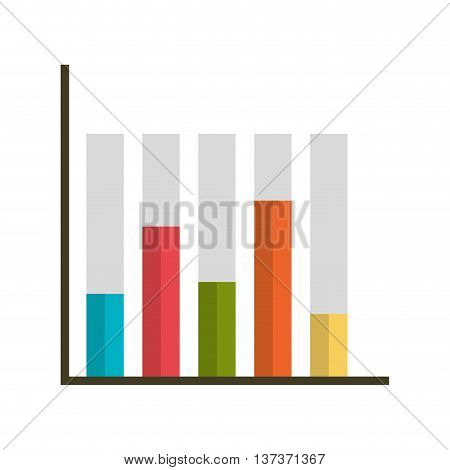 Statistic colorful bars graphic, isolated flat icon design.