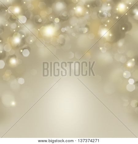 Abstract Happy Holidays background with defocused blinking stars