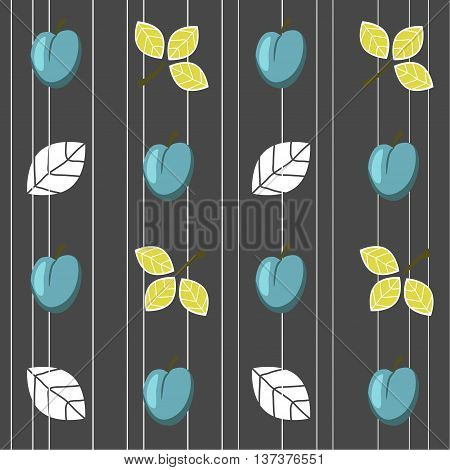 Plums seamless pattern.Seamless pattern can be used for  pattern fills, web page background,surface textures.