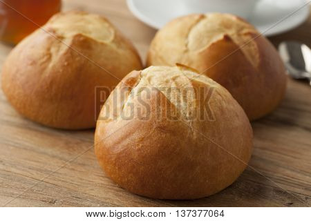 Fresh baked french brioches