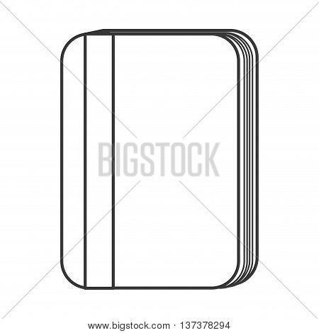 simple line desing wallet icon vector illustration