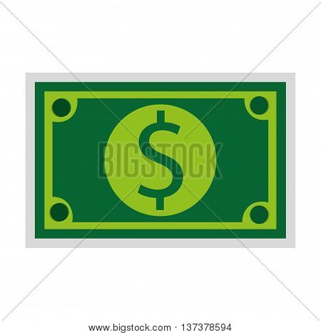 simple flat design dollar bill icon vector illustration