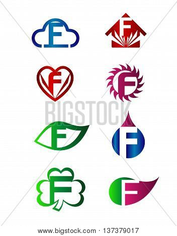 Letter F Logo Icon template design vector