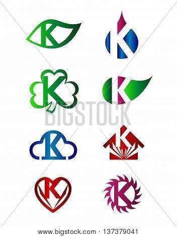 Letter K Logo Icon template design vector