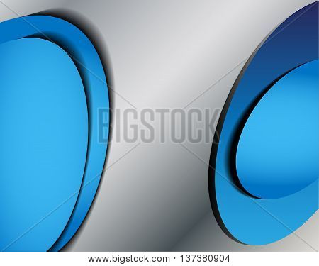 Blue background vector overlap dimension on white background for text and message design