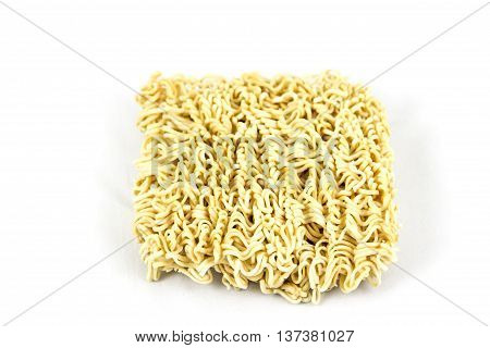 The instant noodles isolated on white background.