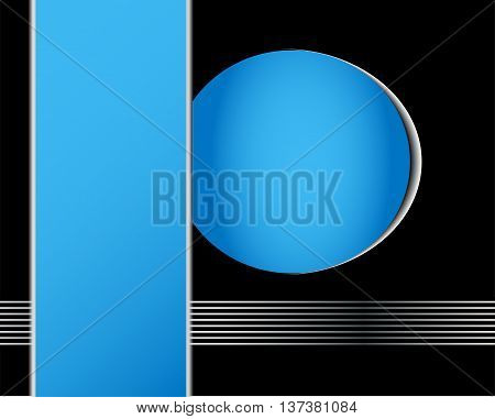 Blue abstract background vector for text and message design on white box for design eps10