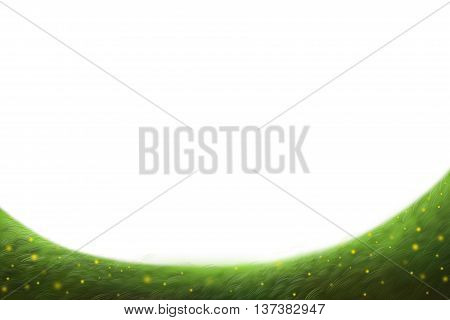 Creative Illustration and Innovative Art: Simple Letter Paper Background Dream Grass Land. Realistic Fantastic Cartoon Style Artwork Scene, Wallpaper, Story Background, Card Design