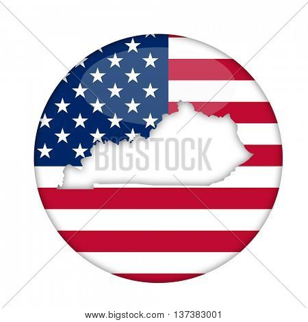 Kentucky state of America badge isolated on a white background.