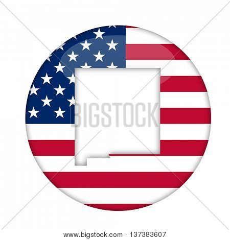 New Mexico state of America badge isolated on a white background.