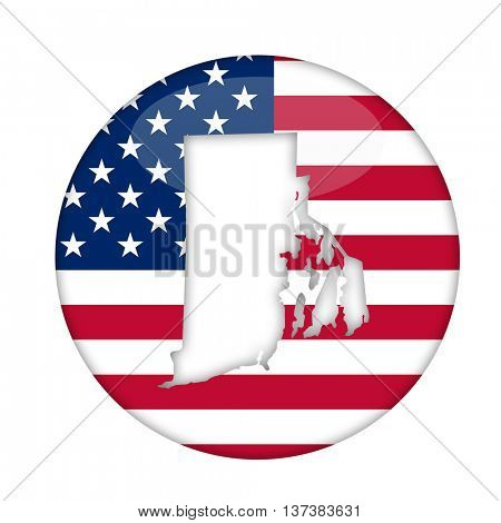 Rhode Island state of America badge isolated on a white background.