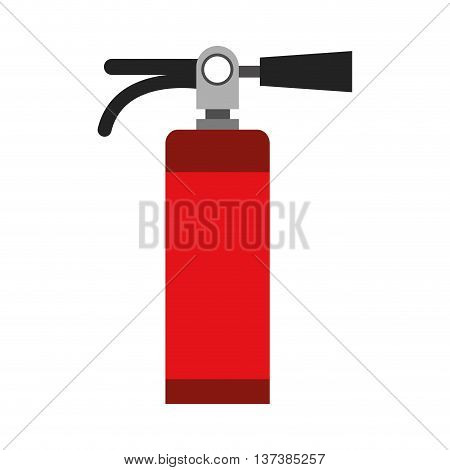 simple flat design fire extinguisher icon vector illustration