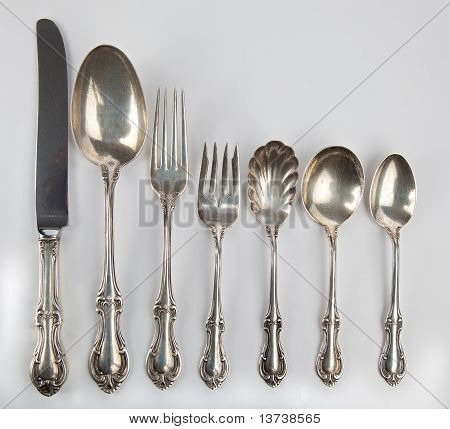 Collection Of Antique Silverware.