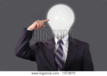 Ideas In The Business World With Neutral Background