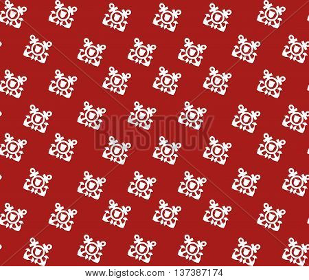Seamless vector pattern with white anchors. Navy logo. Coast guard logo.