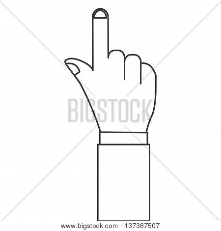 simple flat design hand pointing with index finger icon vector illustration