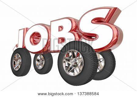 Jobs Automotive Career Engineer Automobile Industry 3d Illustration