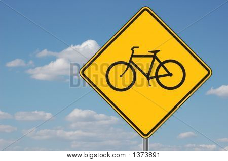 Bicyles Ahead Warning Sign