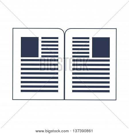 simple flat design paper documents icon vector illustration