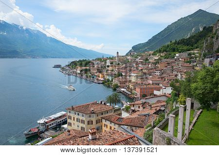 Limone Village At Garda Lake Shore