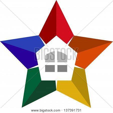 stock logo illustration star luxury real estate