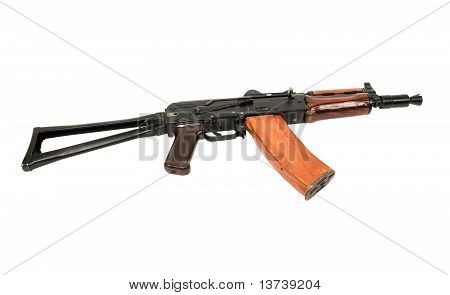Ak47 Rifle On White Background