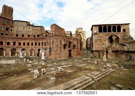 THE EMPEROR TRAJAN'S MARKET, ROME , ITALY,
