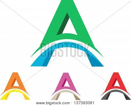 stock logo abstract letter initial alphabet A illustration