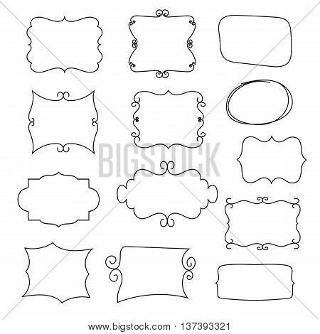 framework set, collection of simple painted hands frames