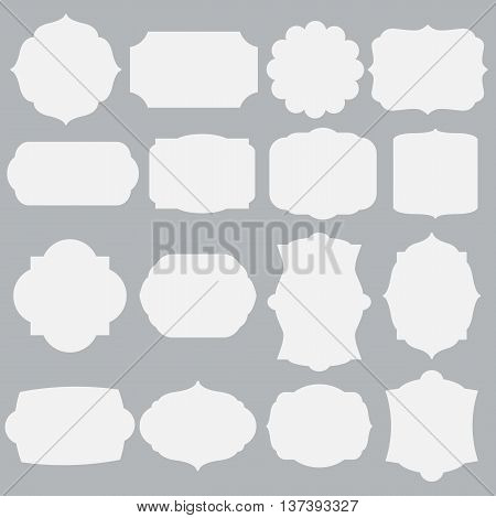 set of silhouette framework, collection of simple frames, vector