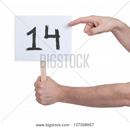 Sign With A Number, 14