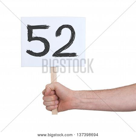 Sign With A Number, 52